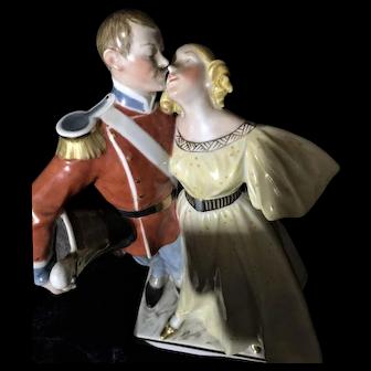 Antique Royal Copenhagen the Princess and the Soldier Figure