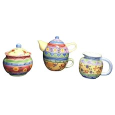 Vintage Mid Century 6 piece Whimsical Tea Set from The Sweet Shoppe By Sango