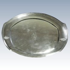 1950 Vintage Oneida Monogram Silver Plate Community Plate 12956