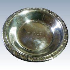 Vintage Reed & Barton # 1209 Silver Plate Engraved Bowl