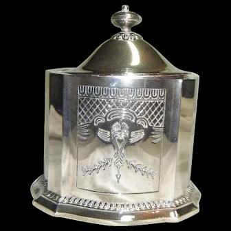 Vintage Silver Plate Biscuit/ Cookie Jar