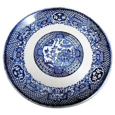Blue Willow Asian Scene Flat Cup Saucer
