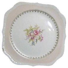 Vintage Homer Laughlin Eggshell Georgian F45 N5 Porcelain Rose Pattern Plate