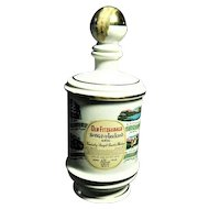 Vintage 1974 Old  Fitzgerald Songs of Ireland Porcelain Kentucky Bourbon Whiskey Bottle