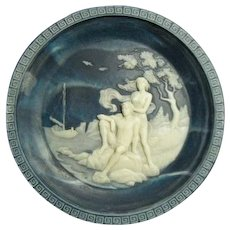 Vintage Incolay Cameo Stone- #3 The Voyage of Ulysses Series by Alan Brunettin - #3 The Isle of Calypso