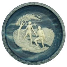 Vintage Incolay Cameo Stone- #4 The Voyage of Ulysses Series by Alan Brunettin -  #4 Land of the Phaeacians