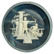 Vintage Incolay Cameo Stone- #5 The Voyage of Ulysses Series by Alan Brunettin - #5 The Return of Ulysses