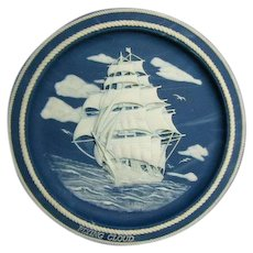 Vintage Incolay Cameo Stone- The Majestic Sailing Ships Series by Daniel Stapleford Premier Issue The Flying Cloud