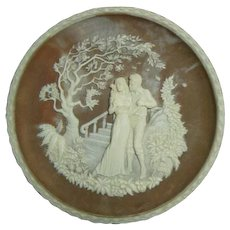 Vintage Incolay Cameo Stone-#5 The Romantic Poets Series - #5 The Kiss