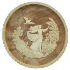 Vintage Incolay Cameo Stone-#3 The Romantic Poets Series - #3 To A Skylark