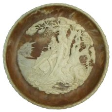Vintage Incolay Cameo Stone-#4 The Nature Quartet of Romantic Poets Series - #4 The Recollection