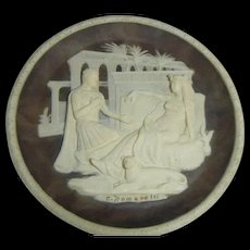 Vintage Incolay Cameo Stone-#1 Great Romances of History Collection - #1 Antony and Cleopatra