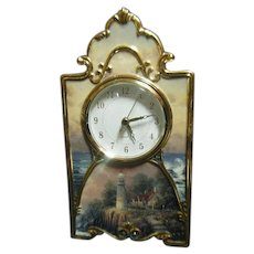 Heirloom Porcelain Light Of Peace Collectors Clock by Thomas Kinkade