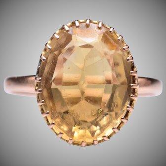 Antique 10k Victorian Citrine Ring