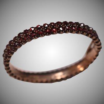 Antique Victorian Bohemian Garnet Bracelet
