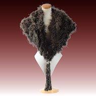 Art Deco feather cape