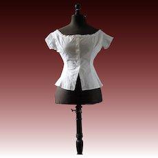Victorian camisole or cache corset with monogram AD