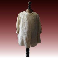Child's silk dress & coat 1920s