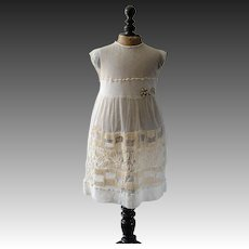 Edwardian tulle dress for child or large doll, 1920s dress