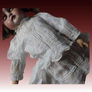 Antique Edwardian dolls white cotton blouse