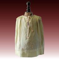 1920s childs tunic dress, silk dress, toddlers dress, dolls dress, French