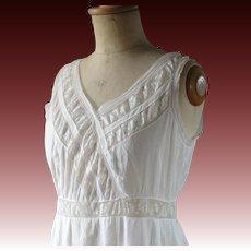 Fine white Edwardian petticoat, lingerie, slip