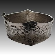 Arts & crafts cuff, bracelet, bangle, with safety chain