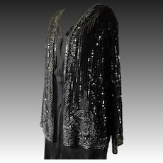 "Art Deco sequin jacket, 38"" bust, 1930"
