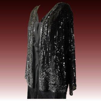 """Art Deco sequin jacket, 38"""" bust, 1930"""