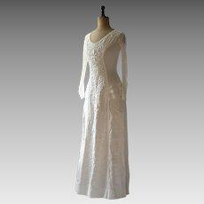 Edwardian cream linen dress,