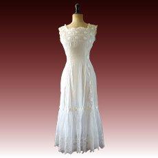 Edwardian petticoat, lingerie slip 1910s