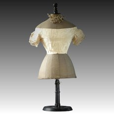 FREE SHIPPING Antique corset mannequin, wasp waist mannequin, 1860-1880, Stockman mannequin, French mannequin, counter top mannequin
