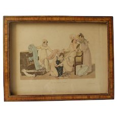 Authentic framed fashion engraving 1818