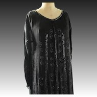 1920s Flapper dress with beading and long sleeves 36 inch bust