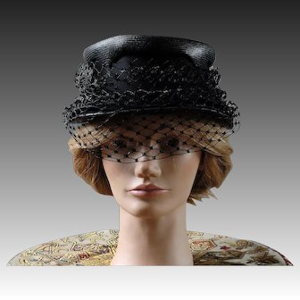Ladies vintage formal hat with veil