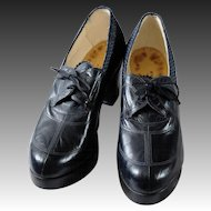 1940 shoes by Bally in dark blue