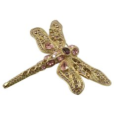 Swarovski Dragonfly Brooch In Pastel Colors