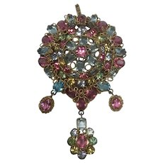 Original by Robert Domed Brooch with Drop