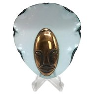 1040s Elzac Copper and Lucite Lady's Head Brooch