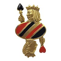 Coty Award Winner Bill Smith King and Queen of Hearts Pin