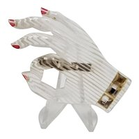 "Lucite Hand Signaling ""It's OK"" Pin"