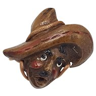 Composition Mexican Head with Sombrero Pin