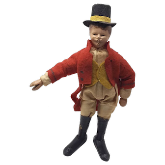 Schoenhut Humpty Dumpty Circus Ringmaster with Top-Hat and Red Coat