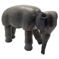 Original Schoenhut Toy Circus Elephant with Movable Joints and Glass Eyes