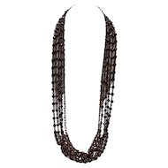 Stephen Dweck 5-Strand Opera Length Garnet Necklace $895