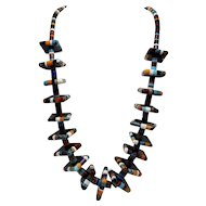 Unusual Multi-Stone Necklace in Contemporary American-Indian Colors