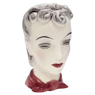 Goldscheider-U.S.A. Porcelain Woman's Head Circa. 1940
