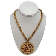 Rare Etruscan Style Virgo Necklace by Pauline Rader
