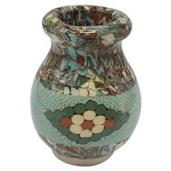 French Jean Gerbino Vallauris Mosaic Art Pottery Vase