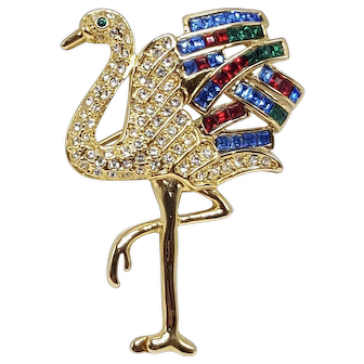 Mid-Size Napier Brooch Copied from The Famed Duchess of Windsor Cartier Flamingo